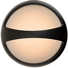 Ulkokattovalaisin Lucide Yazoo LED koristerivalla, Ø17 cm, 1x4W, IP54, musta