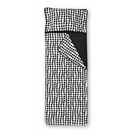 Unipussi Finlayson Pampula 90x250 cm musta/valkoinen luomupuuvilla