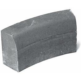 Upotettava reunakivi Rudus H13 kaarre R1000 kovera 523x170x300 mm sileä harmaa