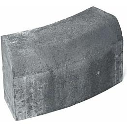 Upotettava reunakivi Rudus H14 kaarre R1000 kupera 523x170x300 mm sileä harmaa