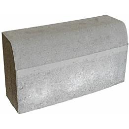 Upotettava reunakivi Rudus H4 kaarre R4500 kupera 560x170x300 mm sileä harmaa