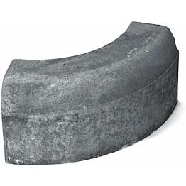 Upotettava reunakivi Rudus H8 kaarre R500 kupera 780x170x300 mm sileä harmaa