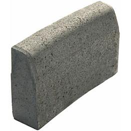 Upotettava reunakivi Rudus J55 kaarre R3000 kovera 500x110x300 mm sileä harmaa