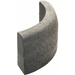 Upotettava reunakivi Rudus J8 kaarre R500 kupera 800x110x300 mm sileä harmaa