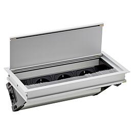Uppopistorasia Limente Inset-3 16 A 230 V IP20 240x120 mm 3-osainen alumiini