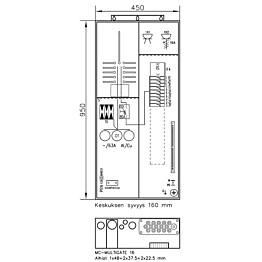 Mittauskeskus Collie 1T+PR+Y 1T IP34