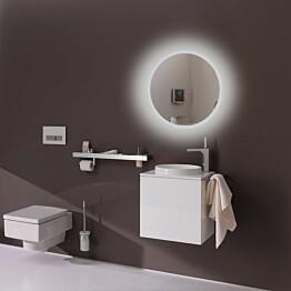 Valaisinpeili LED-valaisimella Bathlife Briljera 600, Ø60 cm