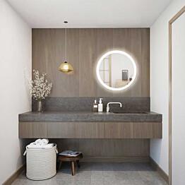 Valaisinpeili LED-valaisimella Bathlife Ståta 980, Ø98 cm