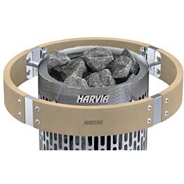 Valaistu suojakaide Harvia HPP3L Cilindro Plus-kiukaalle lämpökäsitelty haapa