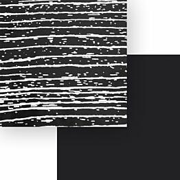 Välitilalevy Aluco Musta peiliraita/Musta 500x3050x4 mm
