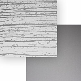 Välitilalevy Aluco Valkoinen peiliraita/Metallihopea 1220x3050x4 mm