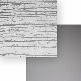 Välitilalevy Aluco Valkoinen peiliraita/Metallihopea 500x3050x4 mm