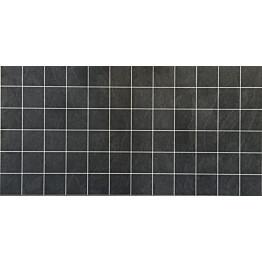 Välitilan laminaatti Liuskekivi Musta 0463 kuvio 10x10 cm levy 3x600x1200 mm
