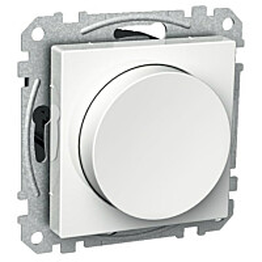 Valkoinen valonsäädin/kytkin 6/420VA RCL IP20 UKR Exxact 2622181