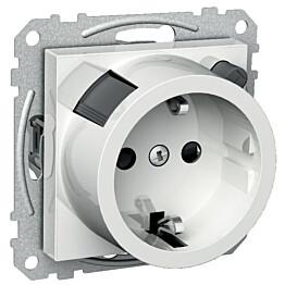 Valkoinen vikavirtapistorasia 1S/VVS/16A/IP20 UKJ Exxact 3227000