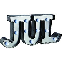 Valokoriste Word Jul LED 11 valoa metalli harmaa paristokäyttöinen