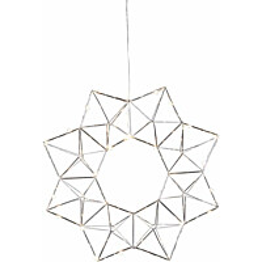 Valokranssi Star Trading Edge LED Ø 40 cm kromi