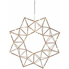 Valokranssi Star Trading Edge LED Ø 40 cm kupari