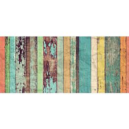 Valokuvatapetti Idealdecor Colored Wooden Wall 8-osaa 00966 366x254 cm non-woven