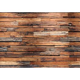 Valokuvatapetti 00150 Wooden Wall 8-osainen 366x254 cm