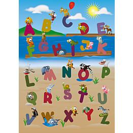 Valokuvatapetti 00383 Animal Alphabet 4-osainen 183x254 cm