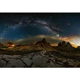 Valokuvatapetti Idealdecor Digital Galaxy Dolomites 4-osaa 5105-4V-1 254x368 cm