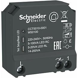 Valonsäädin/LED-säädin Schneider Electric Wiser RCL 14-200 VA uppoasennettava