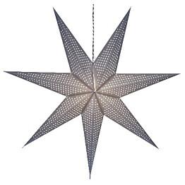 Valotähti Star Trading Huss 100 cm paperi harmaa
