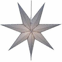 Valotähti Star Trading Huss 60 cm paperi harmaa