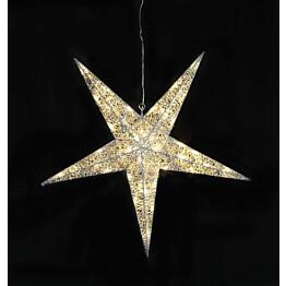 Valotähti Star Trading Sequini LED Ø 75 cm hopea