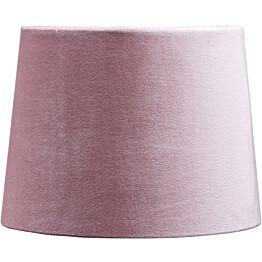 Varjostin PR Home Sofia samettivarjostin Ø250/220x180mm vaaleanpunainen