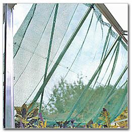 Varjostusverkko kasvihuoneeseen 150x370cm vihreä sis. Kiinnikkeet