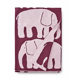 Vauvan torkkupeite Finlayson Elefantti 80x100 cm viininpunainen/roosa