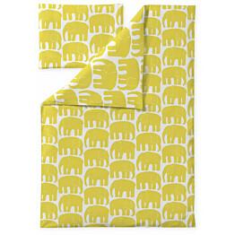 Vauvan pussilakanasetti Finlayson Elefantti 85x125 cm keltainen