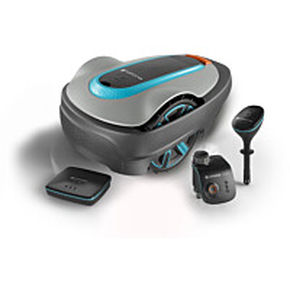 Vedenjakelu- ja robottiruohonleikkurisetti Gardena Smart System SRJ Sileno City 500