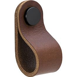 Vedin Beslag Design Loop Round, nahka, ruskea/musta