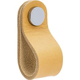Vedin Beslag Design Loop Round, nahka, vaalea/kromi