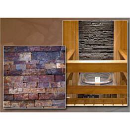 Verhoilukivi Majakivi Shanghai Kaneli 60x15 cm terrakotta/tummanruskea