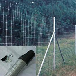 Verkkoaidan sinkitty tukitolppa pyöreä 38 mm korkeus 200 cm