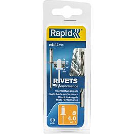 Vetoniitti Rapid 4.0X14 mm H. Perf 50 kpl