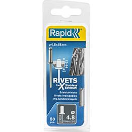 Vetoniitti Rapid 4.8X18 mm RST 50 kpl