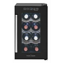 Viinikaappi ProfiCook GK1163, 21L, 252x453x500mm, musta