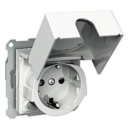 Valkoinen vikavirtapistorasia kannella 1S/VVS/16A/IP20 UKJ Exxact 3227001