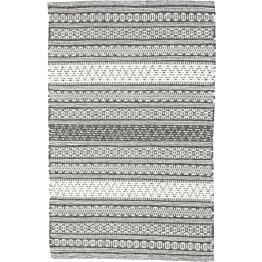 Villamatto Päijänne 60x120cm tummanharmaa/valkoinen