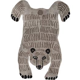 Villamatto Mum's Baby Bear 90x120 cm vaaleanharmaa