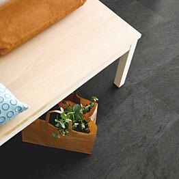 Vinyyli Pergo Tile Optimum Rigid Click, Black Scivaro Slate, 610x303x5mm