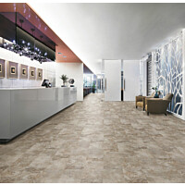 Vinyylikorkkilattia Wicanders Stone Resist+ Grey Marble kivikuosi 10,5x295x905 mm