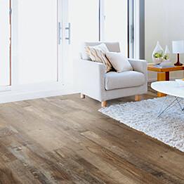 Vinyylilankku Concept Floor Profiline Old Wood Mocca integroitu alusmateriaali