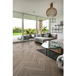 Vinyylilankku Kährs Luxury Tiles kalanruoto Whinfell oikea 5x120x720 mm