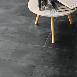 Vinyylilattia Tarkett Starfloor Click 55 Vintage Zing - Black Laatta musta 1.75 m²/pak